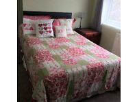 Small Double bed with Headboard and Mattress - from a pet free smoke free home