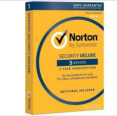 Norton Security Deluxe 2017 5 Devices Pc Mac Android Ios