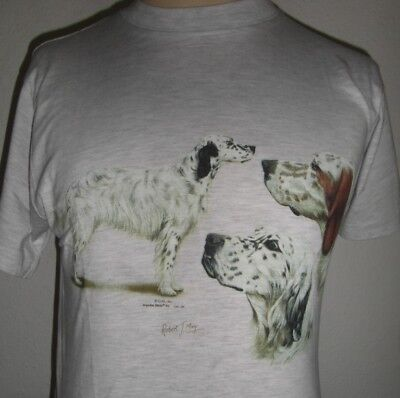 T-Shirt with Transfer print of an English Setter Group by Robert May
