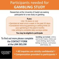 Research Participants Needed for GAMBLING STUDY