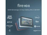 "Brand new in box/sealed Fire HD 8 Tablet 2020 model 8"" HD display, 32 GB, Black RRP 89.99, Bargain"
