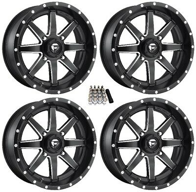 "Fuel Maverick UTV Wheels Black 18"" Polaris Ranger XP 9/1K (4)"