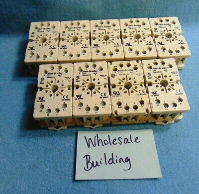 Allen-bradley Relay Socket Block 700-hn100 8 Pin 10 A 400vac Lot Of 9
