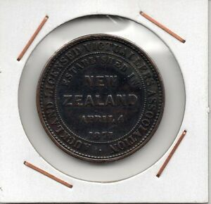 New-Zealand-Penny-AUCKLAND-LICENSED-VICTUALLERS-ASSOCIATION-Queen-Victoria