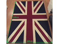 Union Jack rug - Large size 240 cm x 320 cm (50% off)