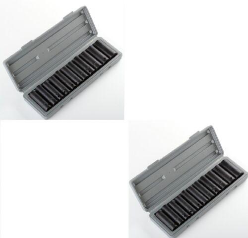 "New 24pc 1/2"" Dr Drive Deep Air Impact Socket Sockets Set 12pc Metric & 12pc SAE"