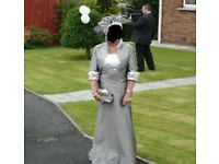 Stunning Designer 3 piece wedding outfit by LINEA RAFFAELLI champagne and antracite size 18 (46)