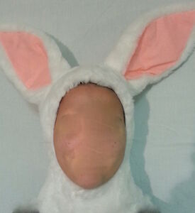 Kids Bunny Rabbit Halloween Costume White Warm Fancy Dress Boy