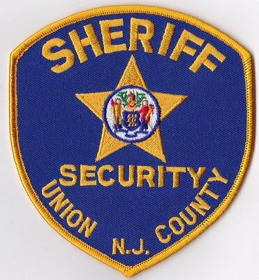 Union County Sheriff SECURITY Police Patch New Jersey NJ
