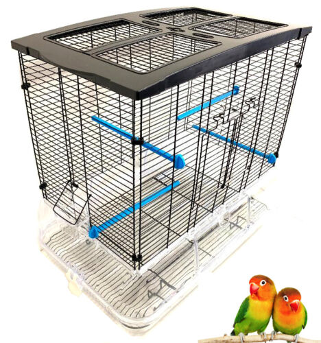 LARGE Acrylic Clear Bird Cage Aviary Canary Finches Parakeet Cockatiel LoveBirds