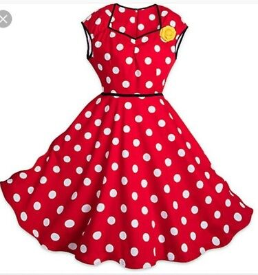NWT The Dress Shop Disney Parks Minnie Mouse Red White Polk a Dot Dress ()