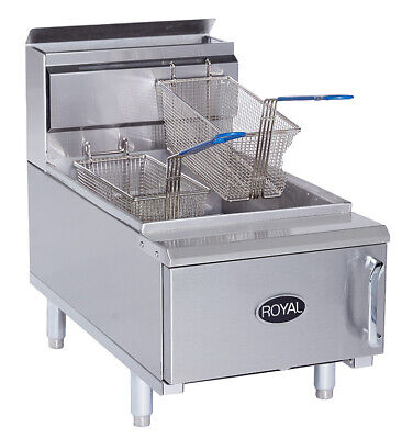New 25 Lb Counter Top Fryer Gas Royal Rcf-25 2026 Commercial Food Deep Fat Nsf