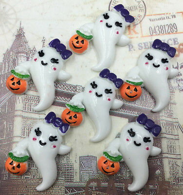 DIY 5/25/50/100pcs Halloween ghost Flatback Resin Cabochon Scrapbooking/Crafts
