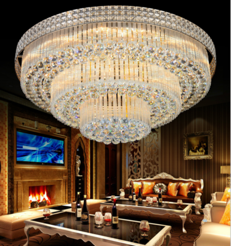3 Layers Clear Crystal K9 Chandelier Light Ceiling Lamp Ligh