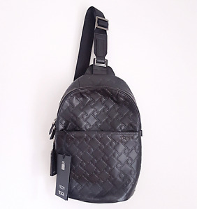Brand New Tumi Embossed Leather Small One Strap Backpack