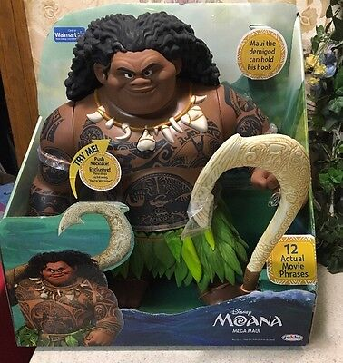 Disney Moana Mega Maui Jumbo Action Figure 12 Movie Phrases   Song Your Welcome