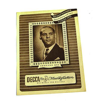 Sonstige k97 Decca Neuaufnahmen Oper Operette Konzert 7.folge 1951 Katalog