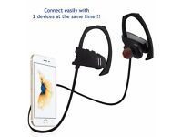 Sunvito Bluetooth Wireless In-Ear Hook Earphones for iPhone Android PC Mac laptop