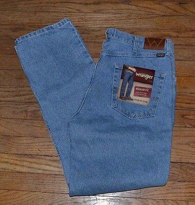(Genuine Wrangler Jeans Regular Fit Premium Denim Jean Size 36 by 34)
