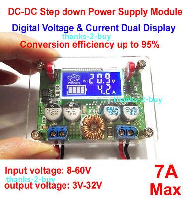Digital 7a Dc-dc Buck Step-down Voltage Regulator 3.3v 5v 12v 24v Power Supply