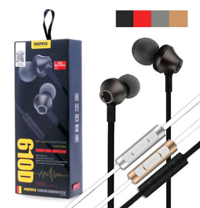 NEW SEALED Remax RM-610D In-Ear Earphones All Phones 3.5 mm Jack