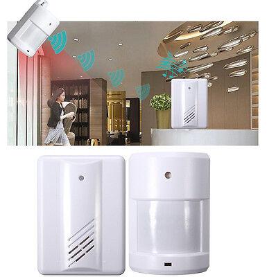 Wireless Garage Motion Sensor Alarm Infrared Alert Secure System Door Entry Bell