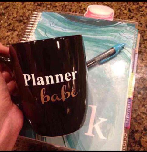 5cd73250a27 Planner Babe Black Custom Coffee Tea Mug Erin Condren MAMBI | Wundr-Shop