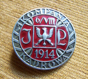 1st CADRE COMPANY BADGE 1914-1939 HONOURABLE POLISH LEGIONS of JOSEF PILSUDSKI - <span itemprop='availableAtOrFrom'>Czosnów, Polska</span> - 1st CADRE COMPANY BADGE 1914-1939 HONOURABLE POLISH LEGIONS of JOSEF PILSUDSKI - Czosnów, Polska