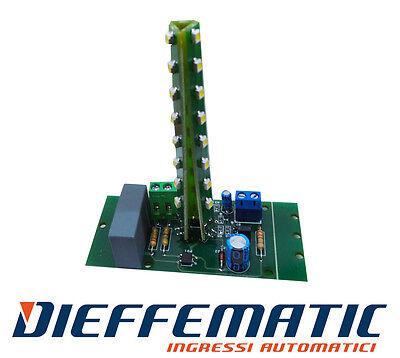 SCHEDA RICAMBIO LAMPEGGIANTE UNIVERSALE 24V 230V A LED COMPATIBILE FAAC LIGHT