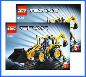 lego bauanleitung 8069 technic technik backhoe loader bagger radlader 2685 ebay. Black Bedroom Furniture Sets. Home Design Ideas