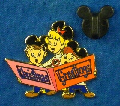 Christmas Greetings Caroling Mouseketeers 2006 Advent Pin 14 LE1000 Pin # 50346