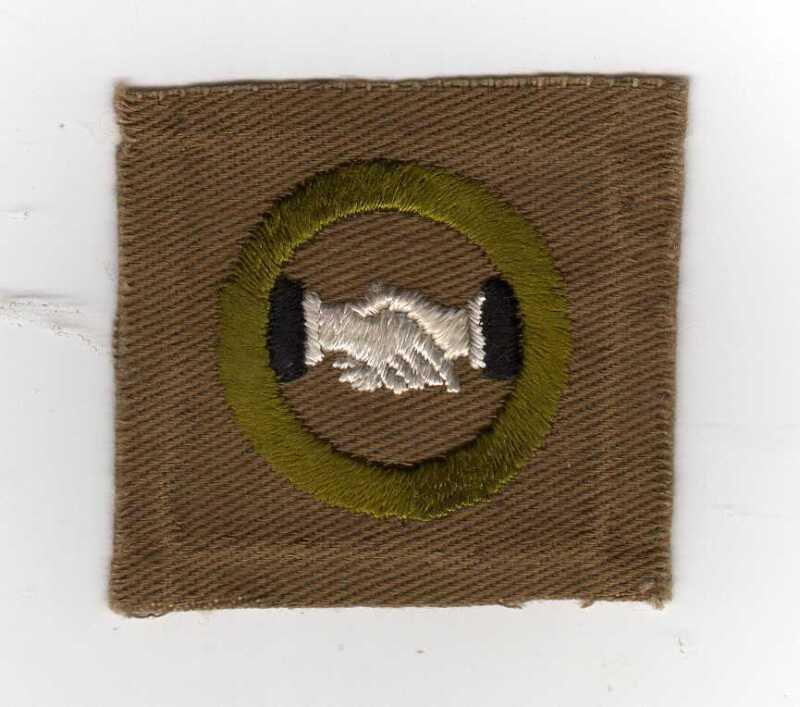 Interpreting Merit Badge, Type A, Square (1911-33), Sewn