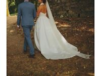 Jesus Piero 6000 wedding gown - size 8/10 - worn once and professionally dry cleaned