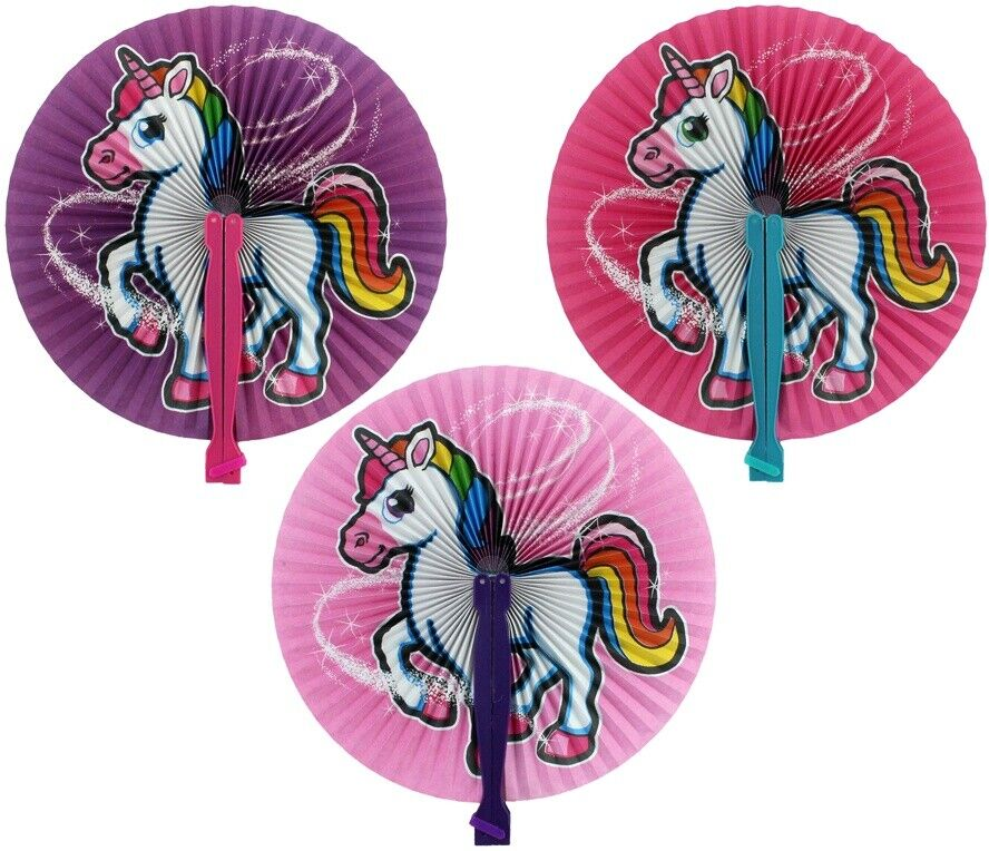 Fächer Papierfächer Unicorn Einhorn Spielzeug rosa lila