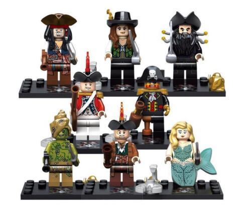 Pirates Mini Figures NEW UK Seller Fits Major Brand Blocks Bricks Pirate Soldier