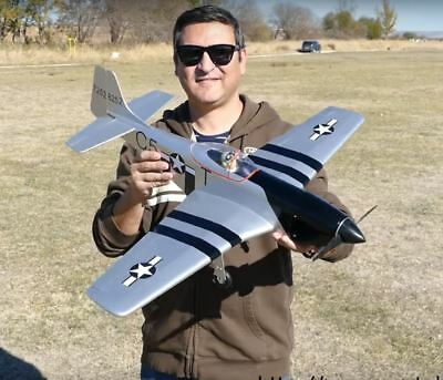 P-51 Mustang Balsa RC Plane  WWII Warbird ARF Kit  Park Flyer, used for sale  Shipping to Canada