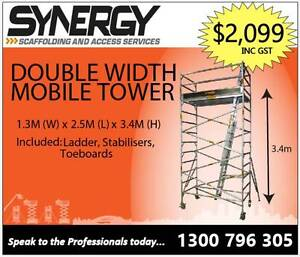 1.3m x 2.5m x 3.4m ALUMINIUM MOBILE SCAFFOLD Fyshwick South Canberra Preview