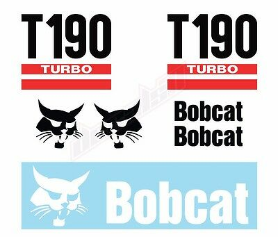 Bobcat T190 T 190 Turbo Skid Steer Set Vinyl Decal Sticker - Aftermarket