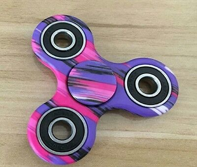 Galaxy Hand Spinner Fidget EDC Camo Camouflage Non 3D Purple Pink Girl Toy Ball