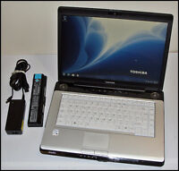 "Toshiba Satellite A200 15.4"" Laptop Notebook PC w/ 2 Batteries"