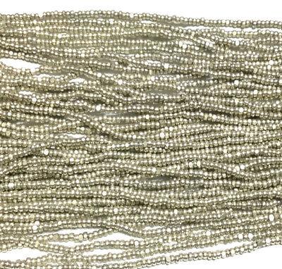 13/0 Charlotte Cut 6 Strands Preciosa Czech Met Silver Glass Seed Beads (Charlotte Glasses)