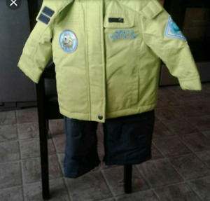 18 to 24 month snow suit x 2