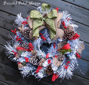 SALE--Woodland Frosted Pine Christmas Wreath/ Holiday Wreath Belleville Belleville Area image 2