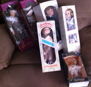 Porcelain dolls in origianal boxes never removed!!
