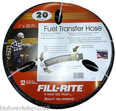 Tuthill Frh10020 Fill-rite 1 X 20 Fuel Pump Transfer Hose With Static Wire