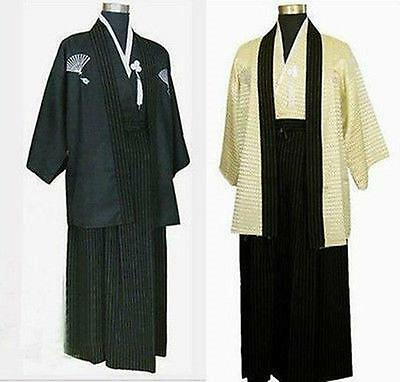 Men's Kimono Robe Yukata Samurai Clothing Suits Karate Cosplay Costume Japanese (Japanese Samurai Costumes)