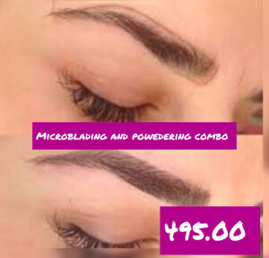 Microblading and powder (soft tap)combo 495.00