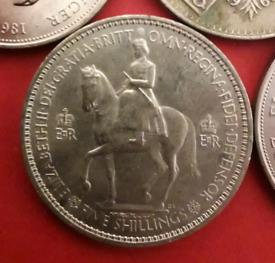 Coronation 5 Shilling coin