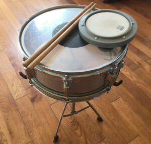 Remo snare drum and practice pad