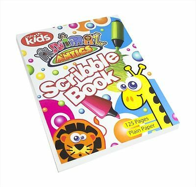Animal Antics Kids Toddlers Fluorescent Paper Art & Craft Sheets Drawing Books
